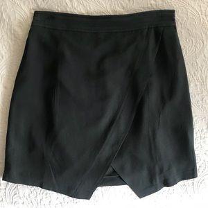 Madewell Parkway Black Silk Skirt Small